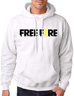 Moletom Unissex Estampado Free Fire Game Mobile Branco