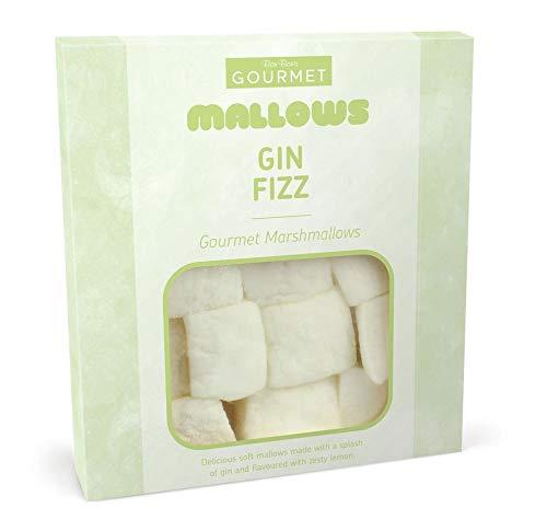 Bon Bons Gin Fizz Gourmet Mallows, GINcredible Gourmet Marshmallows, Zesty Lemon and Gin Flavour, 100 g