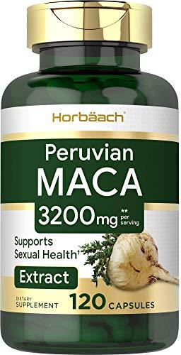 Maca Root Capsules 3200 mg | 120 Pills | Peruvian Maca Extract for Men and Women | Non-GMO, Gluten Free | by Horbaach