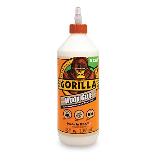 Gorilla Wood Glue, 36 ounce Bottle, Natural Wood Color, (Pack of 1)