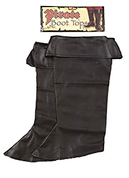 Forum Novelties Pirate Boot Covers for Kids - Black