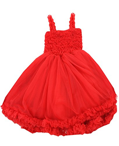 RuffleButts Girls Red Princess Petti Dress - 4T/5