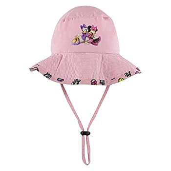 Disney Minnie and Mickey Girls and Boys Sun Boonie Hat - 100% Cotton  Pink