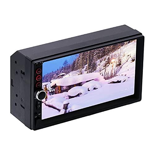 strimusimak Reproductor de MP5 de coche HD de pantalla grande Bluetooth manos libres FM Radios pantalla modificada 7 pulgadas para vehículos coches conductor negro