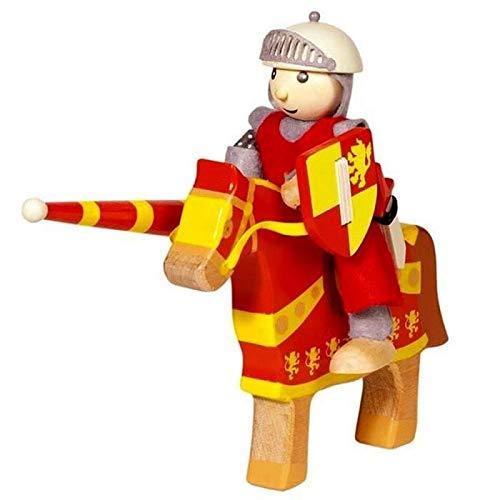 Goki - Figurine en bois Chevalier Artus et son cheval Personnage en bois Médiéval