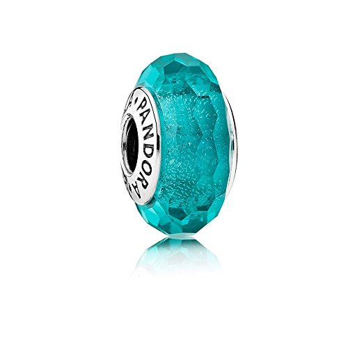 PANDORA 791655-box Blaugrün Shimmer Glas Murano Charm–2016–im Set mit Box