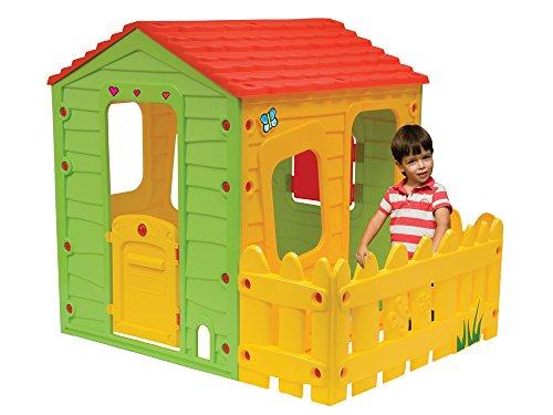 Fun Farm Haus Spielhaus mit Gartenzaun Kinderhaus Kinderspielhaus Play House Spielzeug