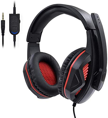 Gaming Headset, 3.5mm jack stereo Bass Surround Geluidsisolatie Gaming hoofdtelefoon met microfoon & Control voor PS4, Xbox One, Nintendo Switch