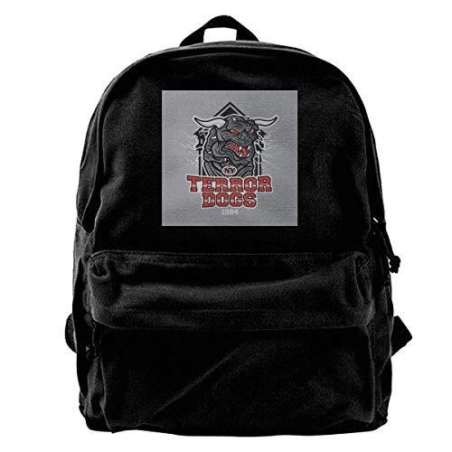 Canvas Rucksack NY Terror Dogs Ghostbusters Rucksack Gym Wandern Laptop Umhängetasche Daypack für Männer Frauen