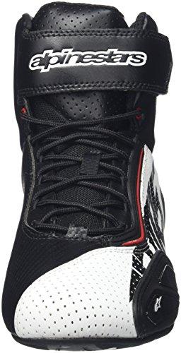 Alpinestars FASTER 2 VENTED Herren Motorradschuh Mikrofaser – schwarz weiss rot Größe 44 - 2