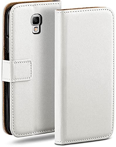 moex Klapphülle für Samsung Galaxy Note 3 Neo Hülle klappbar, Handyhülle mit Kartenfach, 360 Grad Schutzhülle zum klappen, Flip Hülle Book Cover, Vegan Leder Handytasche, Weiß