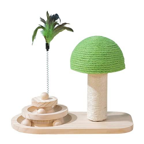 Yang Xin.Style Dreischichtiges Pilzkatzenspielzeug, dreischichtiges Plattenspielerkatzenspielzeug, interaktives Katzenspielzeug, Pilzkratzbaum, Katzenlehrspielzeug