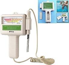 W-Shufang-ph, 1Pcs PC-101 CL2 PH Chlorine Water Quality Tester Portable Home Swimming Pool Aquarium PH Meter Test Monitor White (Color : White)