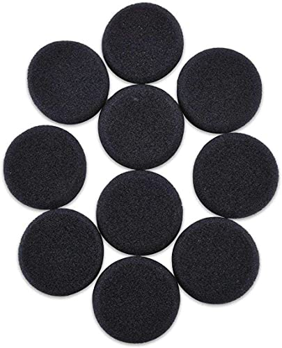 Rhinenet Earpads Compatible for Sony MDR-G45 MDR-222KD MDR-IF240RK MDR 410 for Sennheiser PX100 PMX100 for AKG K420 K412 K402 Headphones Earphone Ear Pads Cover Sponge Foam Cushions Black 50mm 10PCS