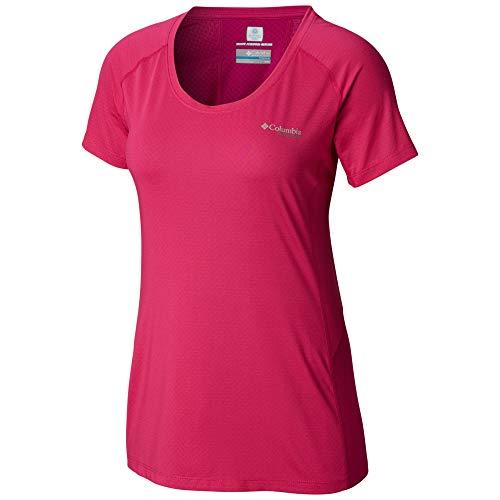 Columbia Titan Trail Lite - Camiseta de Manga Corta para Mujer, Mujer, Color Haute Pink, tamaño Medium