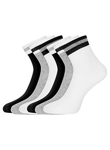 oodji Ultra Damen Kurze Socken (6er-Pack), Mehrfarbig, DE 35-37 / S