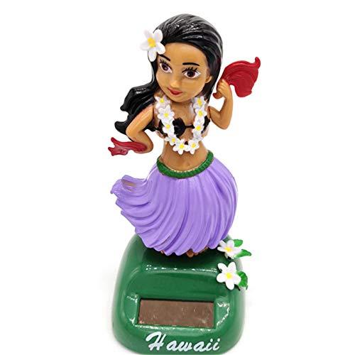 househome Energy Dance 1PC Solar Swing Juguete Hawaiana Falda Ornamento de la Belleza de la muñeca, energía Solar Auto de la decoración de Interiores, decoración del Coche Figura