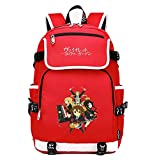WANHONGYUE Violet Evergarden Anime Cosplay Schoolbag Rucksack 15.6' Laptop Backpack with USB Charging Port Red / 4