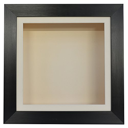 Boldon Framing 3.75 Inch Deep 3D Shadow Box Frame Medals Casts Memorabilia-12x12-Black