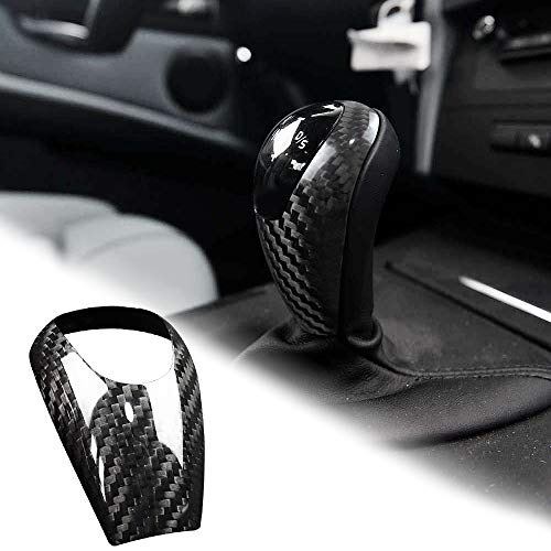 YlRNhe Autoschalthebel f/ür BMW E90 E92 E93 E87 3er-Serie 2005 2012 Carbon Fiber Style ABS Car Gear Shift Head Cover Trim Shows 1 Paar Aufn/äher
