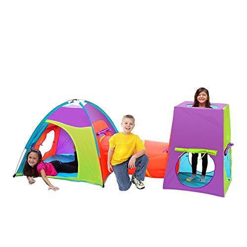 WAMY Tiendas de campaña para niños, Pop Up Tienda de Juegos Plegable con Casita Infantil para Interiores y Exteriores Casa para niños