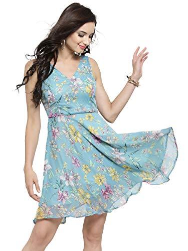 SERA Women's Chiffon A-Line Mini Clothing