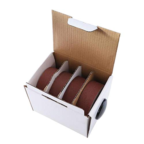 Fenteer Paquete de Rollos Abrasivos Múltiples Paquete de Variedad de Papel de Lija Herramientas de Pulido Duraderas