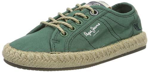 Pepe Jeans London Herren Tourist Island Boys Espadrilles, Grün (Leaf Green 676), 38 EU