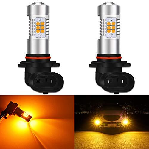 KATUR H10 Ampoules LED Anti-Brouillard Max 80W Super Lumineux 2000 lumens 3000K Orange avec projecteur pour la Conduite de Jour Feux DRL ou phares antibrouillard (Pack de 2)