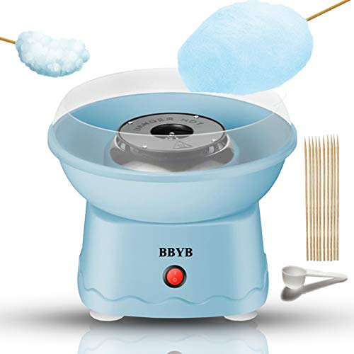 Cotton Candy Machine for Kids, Countertop Nostalgia Cotton Candy Sugar Maker for Birthday Family Party Gift with Cotton Candy Cones & Hard Candy Sugar Scoop