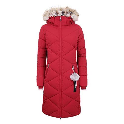 LUHTA Damesmantel INGBY L7 34430-361 Cranberry/gewatteerde/wintermantel