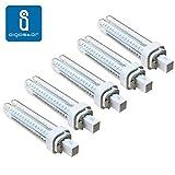 Pack 5 Bombillas Aigostar 183653 LED PLC 2U 15W Bombilla LED Maiz G24 6400K [Clase de eficiencia energtica A+]