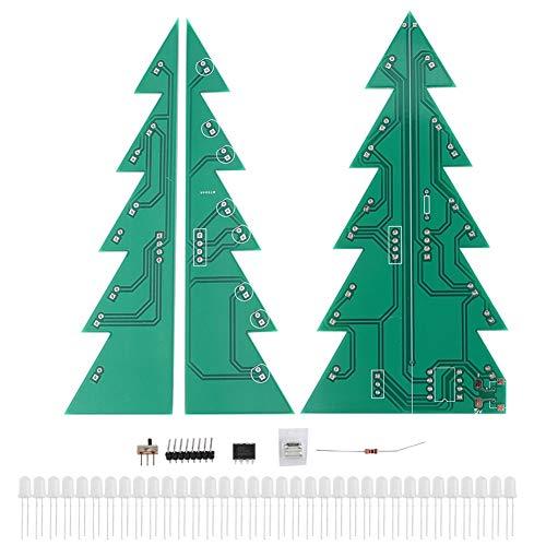 Árbol de Navidad electrónico, adorno de Navidad DIY, kit de adorno LED de árbol de Navidad DIY, módulo de placa de circuito impreso electrónico, decoración