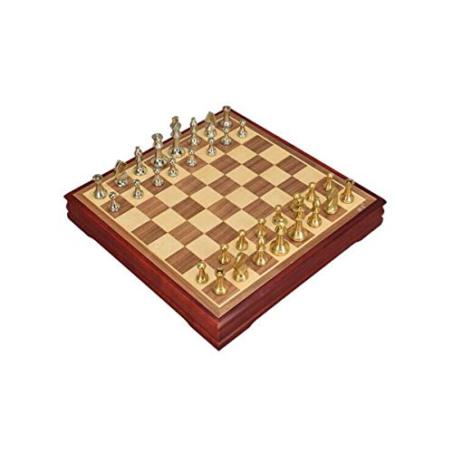Chess, international Chess Metal Schachfigur aus Zinklegierung Chess Chess Large Storage (Farbe : Brown)