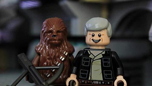 Jigsaw Puzzle Adult 1000 Piezas Niños Desarrollo IQ Juego DIY Puzzle Decoración hogar Regalo Creativo 75x50cm Lego Star Wars han Solo Chewbacca