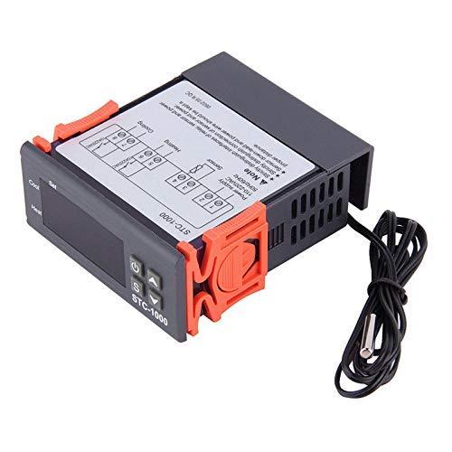 Termostato controlador de temperatura de 220 V, termostato de temperatura digital Controlador STC-1000-50 ℃ ~ 110 ℃ Calefacción Refrigeración