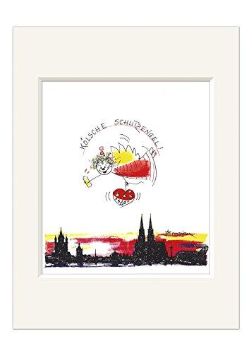 Passepartout Bild ~ Kölsche Schutzengel II ~ Kölner Dom Druck Köln Engel 24x30
