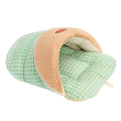 Cosanter Sac De Couchage pour Animaux De Compagnie De Chenil Pantoufles Style Sac De Couchage Vert Taille: 52 x 40 x 32cm