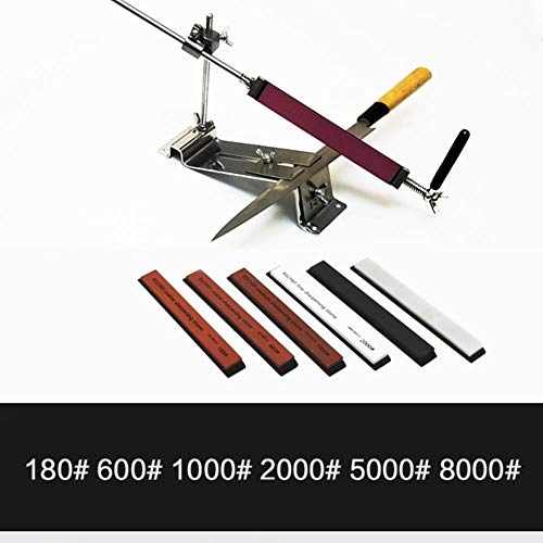 Ruixin pro sistema di affilatura per affilare i coltelli per affilare le pietre per affilare pietra per affilare grana grossa 240 600 1000 utensili da cucina in pietra per affilare, fissi e 6 pietre-G