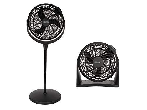 Zwarte ventilatorset – staande ventilator, tafelventilator, wandventilator, 3 standen.
