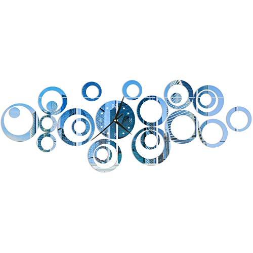 Pegatina de pared de espejo de reloj de círculo, diseño de reloj personalizado, (reloj creativo de pared de espejo de círculo)