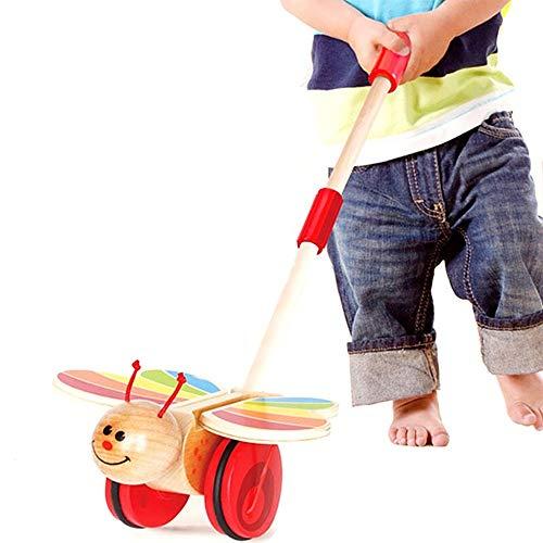 DLSMB Jouets Interactifs pour Enfants Jouets en Bois Push for Tout-Petits bébé Jouets Cute Animals Designed Learning Toys Activité for 0-6 Mois Jouets Amusants (Color : Green, Size : One Size)