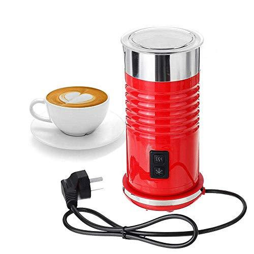 Automatische melkopschuimer en Warmer, Electric met Silent Operation, 4 Modes, Heats Melk, Extra gardes en schuimt Warm Koudschuim for warme chocolademelk, Cappuccino, Black zhihao (Color : Red)