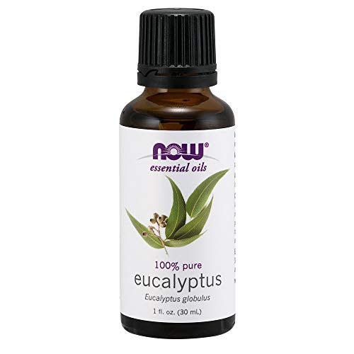 NOW Essential Oils, Eucalyptus Oil, Clarifying Aromatherapy Scent, Steam Distilled, 100% Pure, Vegan, 1-Ounce