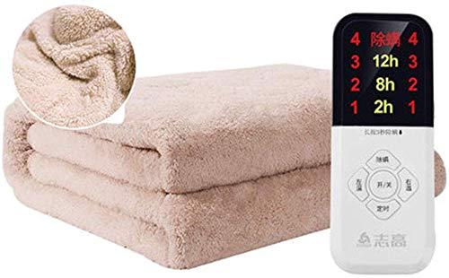 Verwarmingsdeken met dubbele verwarming, flanel, ademend, vriendelijk, 4 warmtestanden, thermische deken, automatische uitschakeling, beste geschenken All Night Usa 220V, b, 1