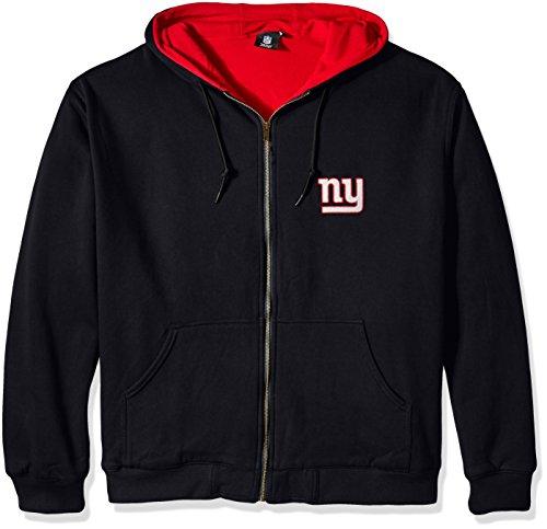 Dunbrooke Apparel NFL-Jacke mit Reißverschluss, Thermojacke mit Kapuze , Herren, 8496-801-GIA, Team, Large