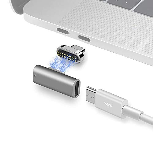 Magnetic Thunderbolt3 USB C Adapter 24Pins USB-C Connector, Support PD 100W Quick Charge, 40Gbp/s Data Transfer and 6K@60Hz 4K@60Hz Video Output Compatible for MacBook Pro/Air and More Type C Devices