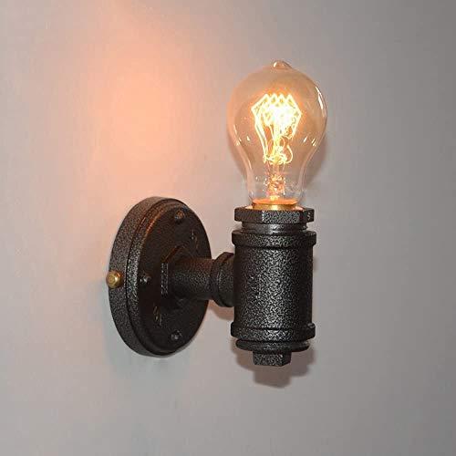 Lámparas de pared para aplique de pared para tubos de agua de industria antigua, farol de pared de hierro forjado Edison minimalista retro para restaurante bar con temática farol antiguo