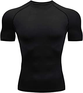 Mens Cool Dry Compression Shirts Athletic Workout Sports Tops
