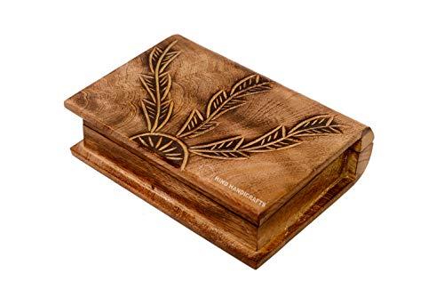 Joyero antiguo hecho a mano de madera con grabado del árbol de la vida tallado a mano para mujeres y hombres | detalles de decoración del hogar | Cajas decorativas | Almacenamiento y organizador